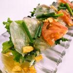 白身魚のカルパッチョ サラダ仕立