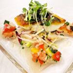 4白身魚のロースト、フレッシュトマトソース