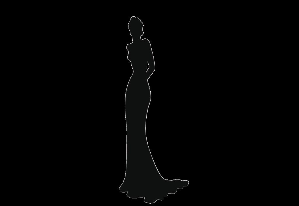 ウェディングドレス、スレンダーライン