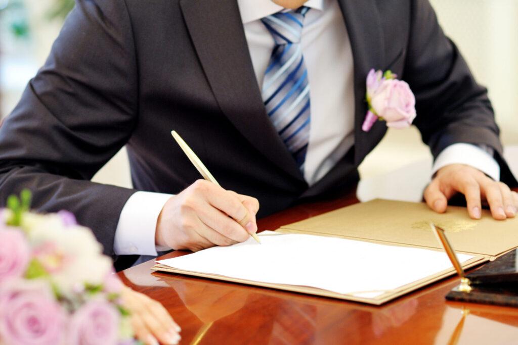 結婚証明書_署名