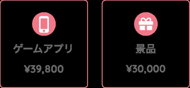 ゲームアプリ¥39,800 景品¥30,000
